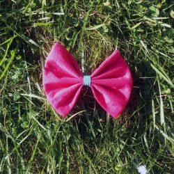 noeud rose fuchsia pour cheveux