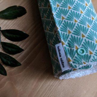 essuie-tout lavable personnalisée vert d'eau badineries créations